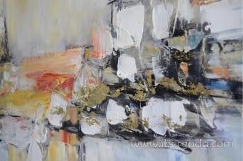 Cuadro Oleo Abstracto Colores/Oro II (150x90) - 2