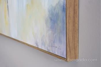 Cuadro Oleo Abstracto Colores/Oro II (150x90) - 3