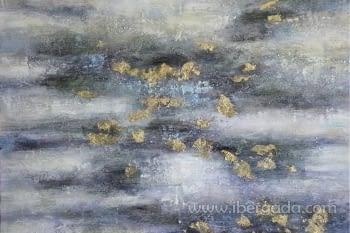 Cuadro Oleo Abstracto Colores/Oro II (115x115) - 1