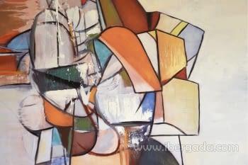 Cuadro Oleo Geometric I (100x100) - 1