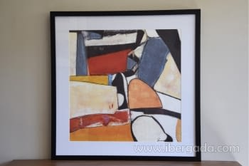 Cuadro Abstracto Oleo Colores/Negro I (80x80)