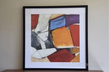 Cuadro Abstracto Oleo Colores/Negro II (80x80)