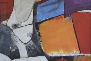 Cuadro Abstracto Oleo Colores/Negro II (80x80) - 1