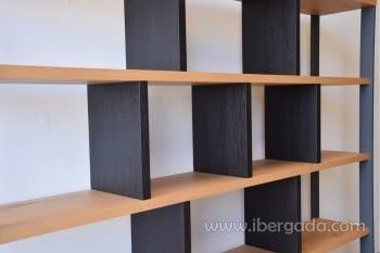 Estantería/Librería Roble/Grafito (240x40x190) - 1