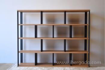 Estantería/Librería Roble/Grafito (240x40x190) - 2