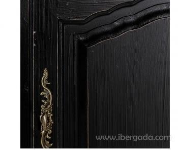 Aparador Negro/Natural 3 Puertas 3 Cajones - 3