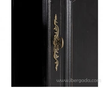 Aparador Negro/Natural 3 Puertas 3 Cajones - 5