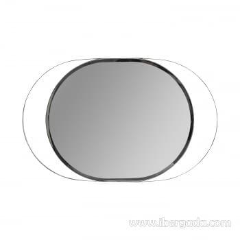 Espejo Oval White Fussion Cromo (110x70)