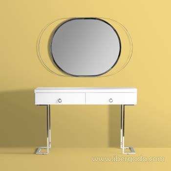 Espejo Oval White Fussion Cromo (110x70) - 1
