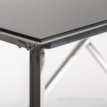 Consola Manhattan Inox/Negro (120x40x78) - 2