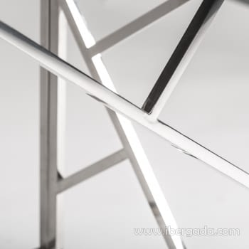Consola Manhattan Inox/Negro (120x40x78) - 3
