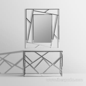 Consola Manhattan Inox/Negro (120x40x78) - 4