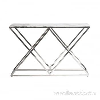 Consola Everest Inox/Cristal (120x40x78)