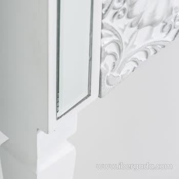 Consola Reflejos Blanco/Espejo 1 Cajón - 3