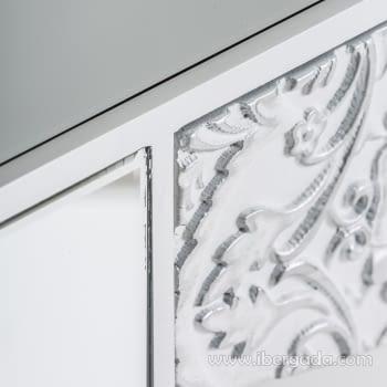 Consola Reflejos Blanco/Espejo 1 Cajón - 4