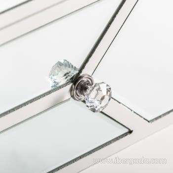 Cómoda Panal Blanca/Espejo 4 Cajones - 3