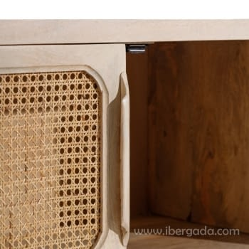 Mueble TV Mango/Rejilla 2 Puertas 2 Huecos (130x40x60) - 3