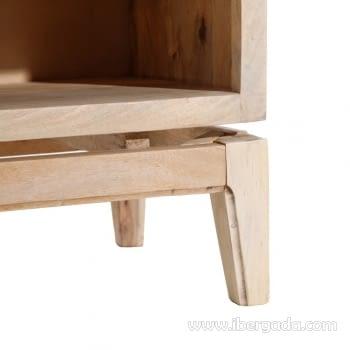 Mueble TV Mango/Rejilla 2 Puertas 2 Huecos (130x40x60) - 9