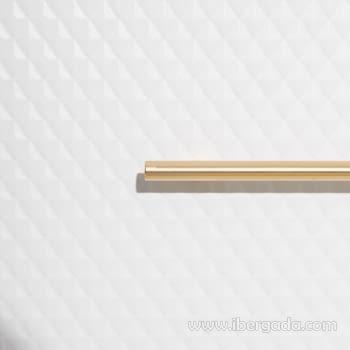 Cómoda Blanco/Oro 4 Cajones (80x40x83) - 5