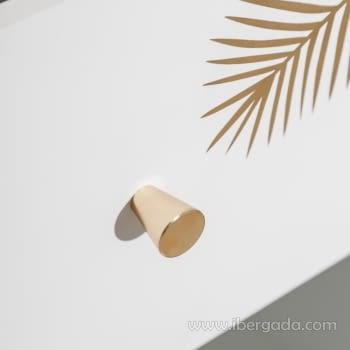 Cómoda Blanco/Oro 4 Cajones (80x40x83) - 6