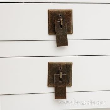Consola Oriental Blanco 6 Cajones (85x26x85) - 2