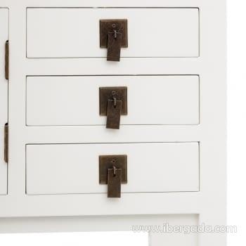 Consola Oriental Blanco 3 Cajones 2 Puertas (63x26x80) - 2