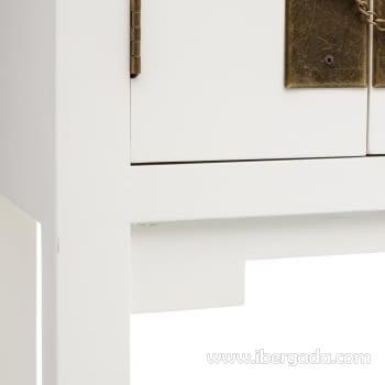 Consola Oriental Blanco 3 Cajones 2 Puertas (63x26x80) - 4