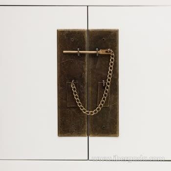 Consola Oriental Blanco 6 Cajones 2 Puertas (95x26x91) - 4