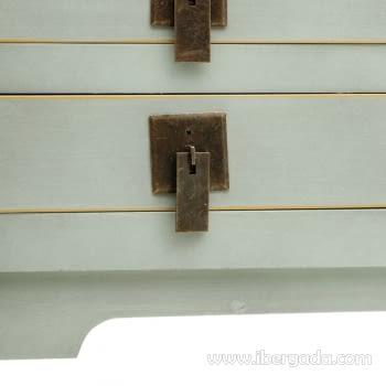 Consola Oriental Verde 6 Cajones (85x26x85) - 2