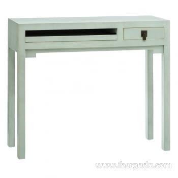 Mueble Escritorio Oriental Verde 1 Cajón 1 Bandeja (95x30x80)