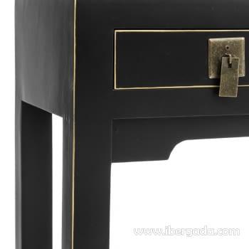 Consola Oriental Negro 3 Cajones (85x26x85) - 2