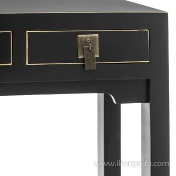 Consola Oriental Negro 3 Cajones (85x26x85) - 3