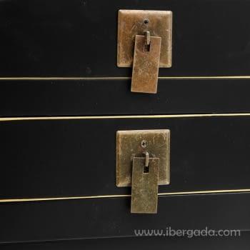 Consola Oriental Negro 6 Cajones (85x26x85) - 2