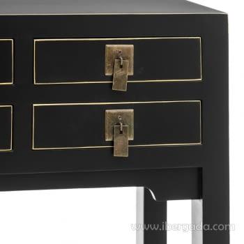 Consola Oriental Negro 6 Cajones (85x26x85) - 3
