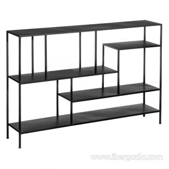 Estantería Negro Metal (130x26x85)