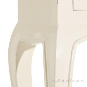 Consola Mindi Beige 3 Cajones (85x23x80) - 4