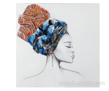 Cuadro Pintura Africana II (100x100)