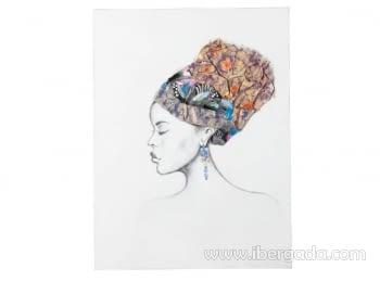 Cuadro Pintura Africana III (120x90)