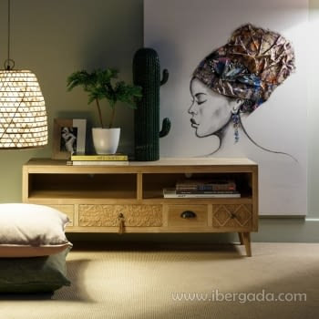 Cuadro Pintura Africana III (120x90) - 1