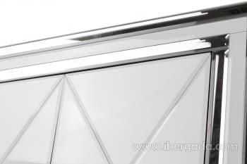 Taquillon Shine Cristal Blanco/Espejo 2 Puertas (80x40x80) - 5