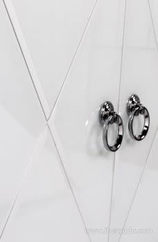 Taquillon Shine Cristal Blanco/Espejo 2 Puertas (80x40x80) - 6