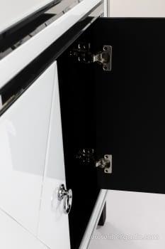Taquillon Shine Cristal Blanco/Espejo 2 Puertas (80x40x80) - 8