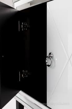 Taquillon Shine Cristal Blanco/Espejo 2 Puertas (80x40x80) - 9