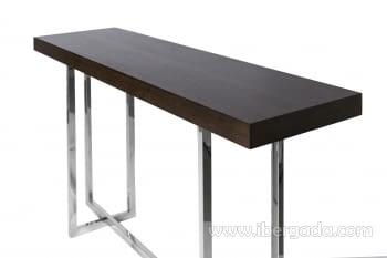 Consola Acero/Madera Nogal (140x40) - 3