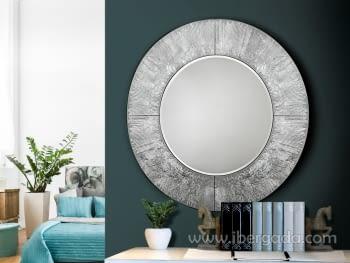 Espejo Aurora Redondo Plata (100x100)