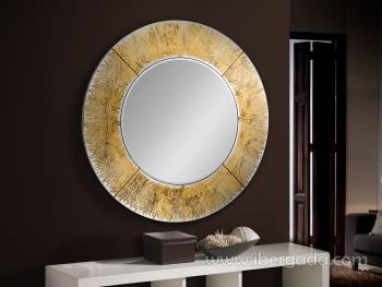 Espejo Aurora Redondo Oro (100x100)