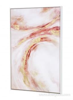 Cuadro Abstracto Rosa/Oro I (90x60) - 2