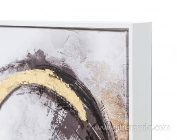 Cuadro Abstracto Blanco/Oro II (80x80) - 2