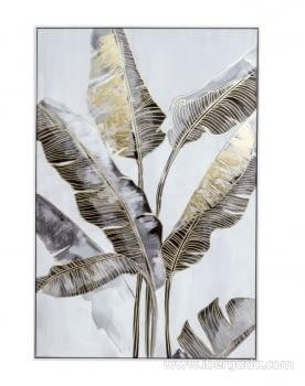 Cuadro Bananera Oro/Blanco (120x80)