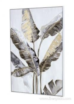 Cuadro Bananera Oro/Blanco (120x80) - 1